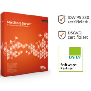 Mailstore Server Box - ausgeleifert wird die Software jedoch per Download